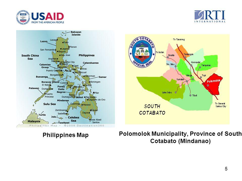 Polomolok Municipality, Province of South Cotabato (Mindanao) 5 Philippines Map