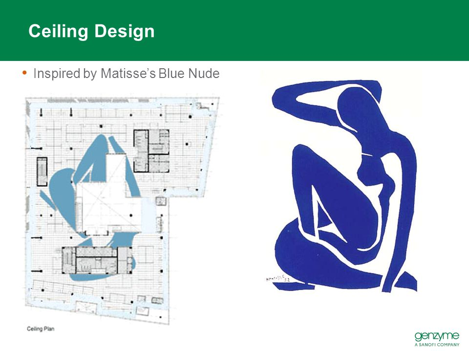 Ceiling Design Inspired by Matisse's Blue Nude