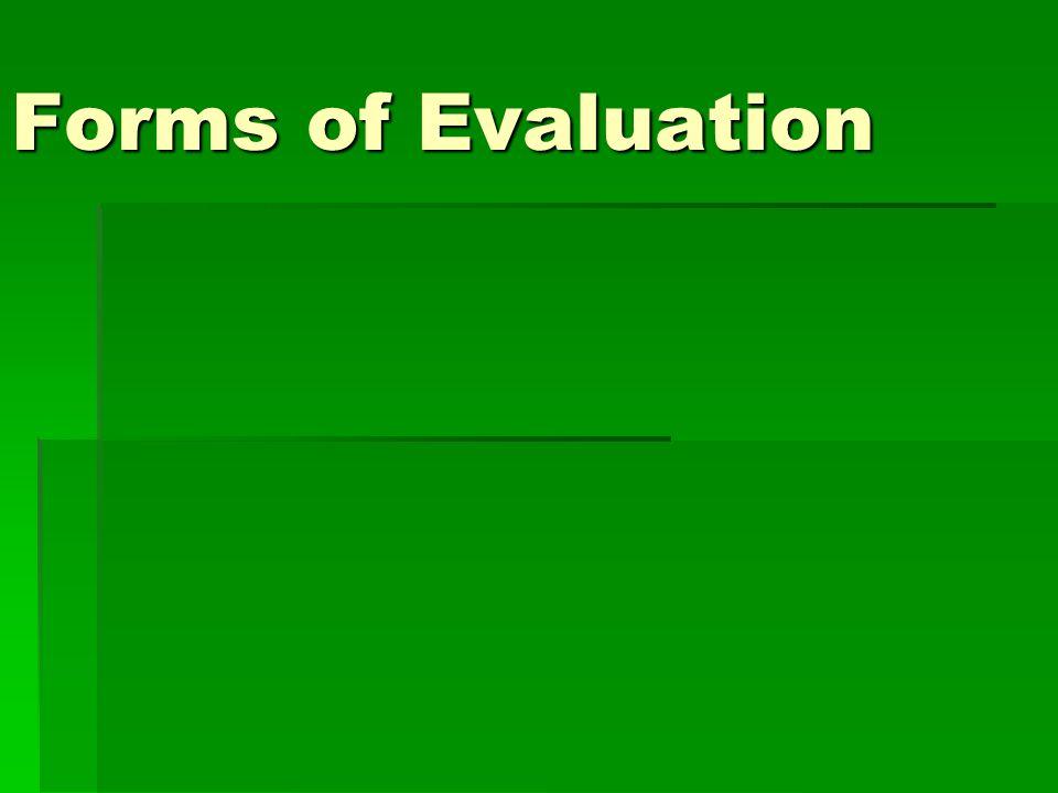 Why Do Evaluation.
