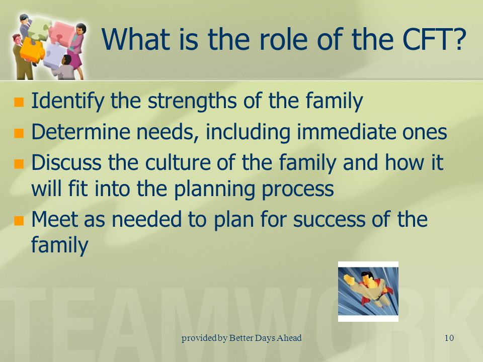 provided by Better Days Ahead9 What is a Child and Family Team.
