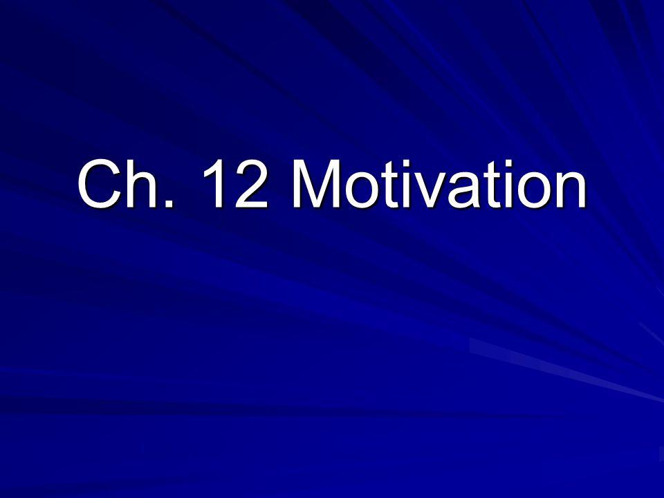 Ch. 12 Motivation