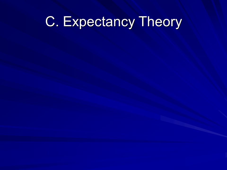 C. Expectancy Theory