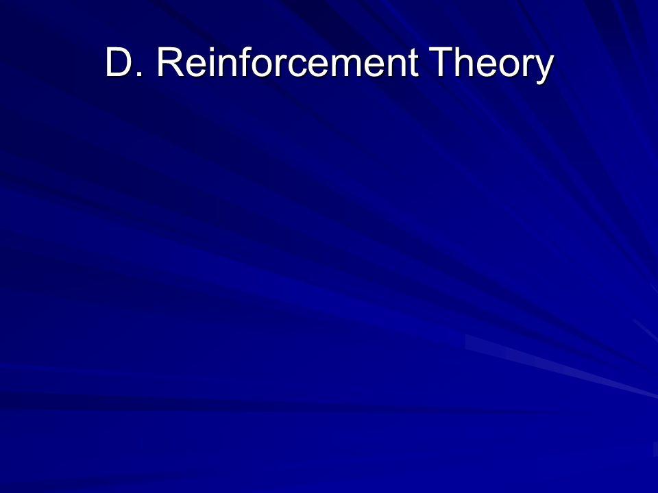 D. Reinforcement Theory
