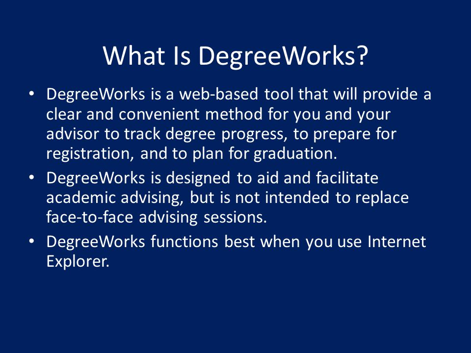 What Is DegreeWorks.