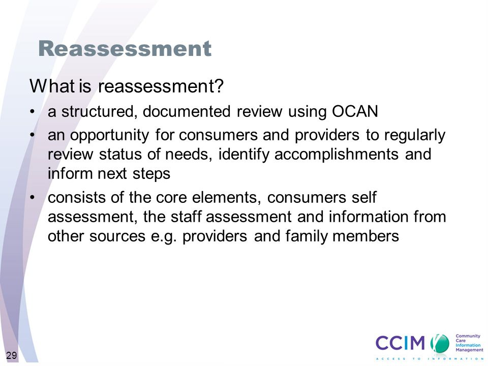 What is reassessment.
