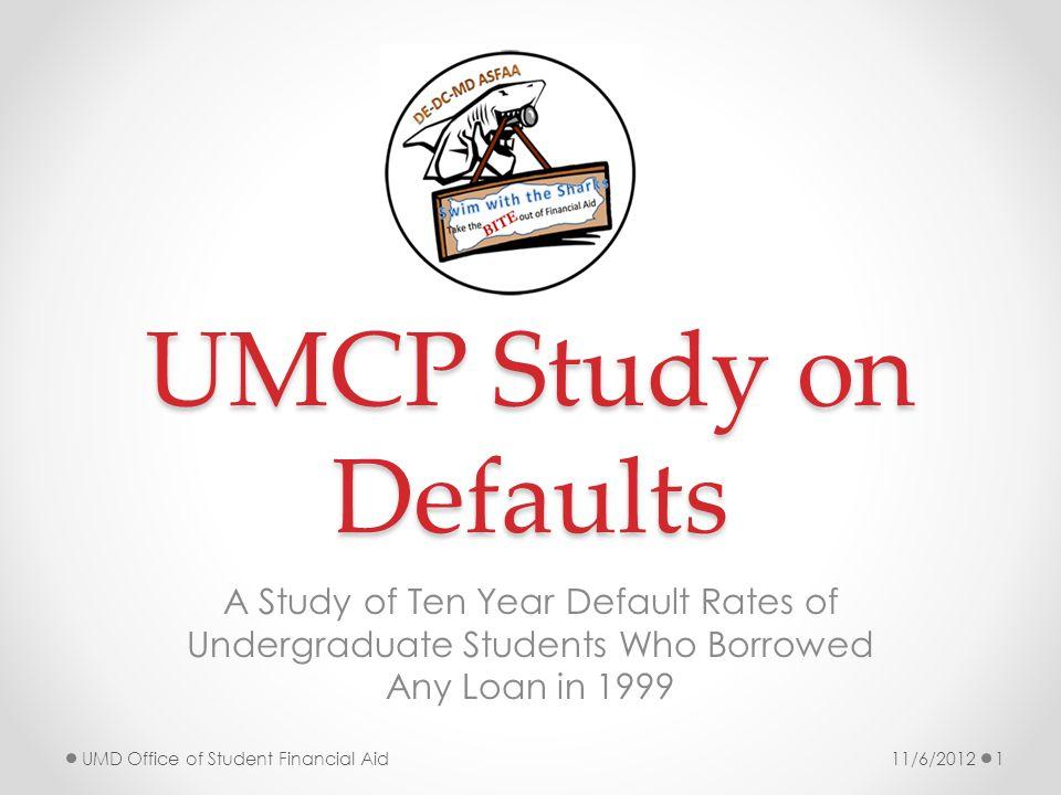 Summary of Loan Takers at Risk of Defaulting Default Rate GraduatedDidn't GraduateTotal Any Academic Probation8%19%14% (20) Undergraduate Studies Major6%22%12% (21) High School GPA > 1.4 < 2.39%19%12% (15) Last Cum UG GPA >1.4 < 2.37%13%10% (178) Black/Af.