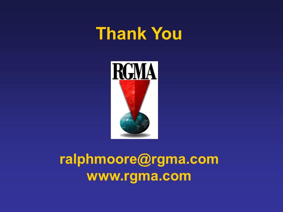 Thank You ralphmoore@rgma.com www.rgma.com