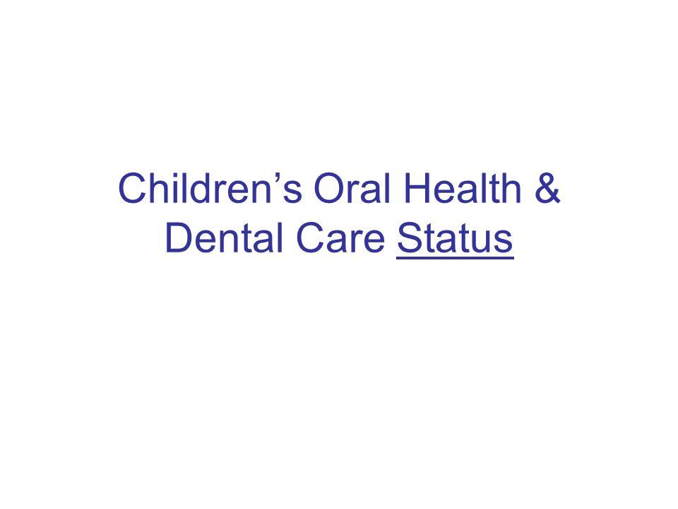 Children's Oral Health & Dental Care Status