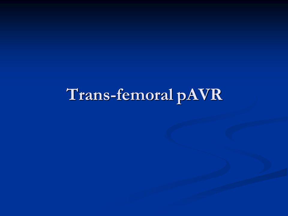 Trans-femoral pAVR