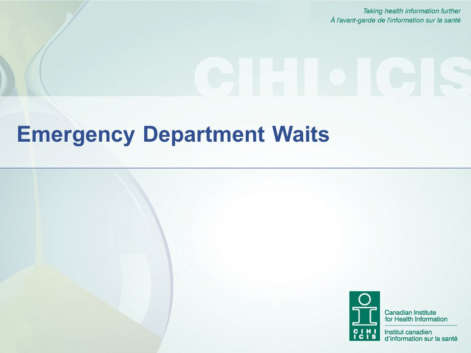 Emergency Department Waits