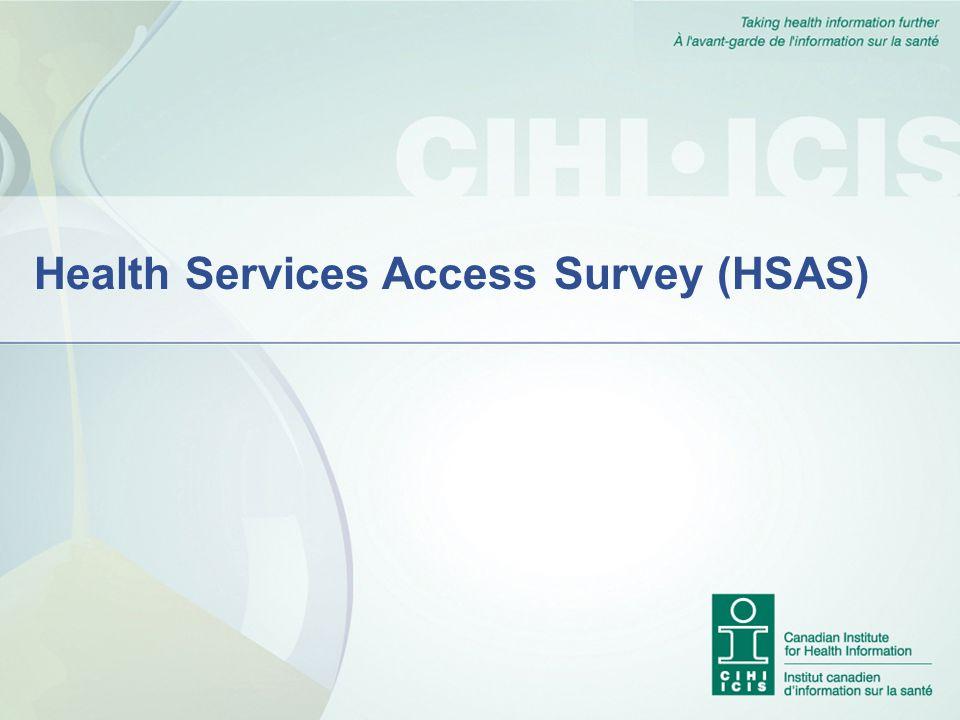 Health Services Access Survey (HSAS)