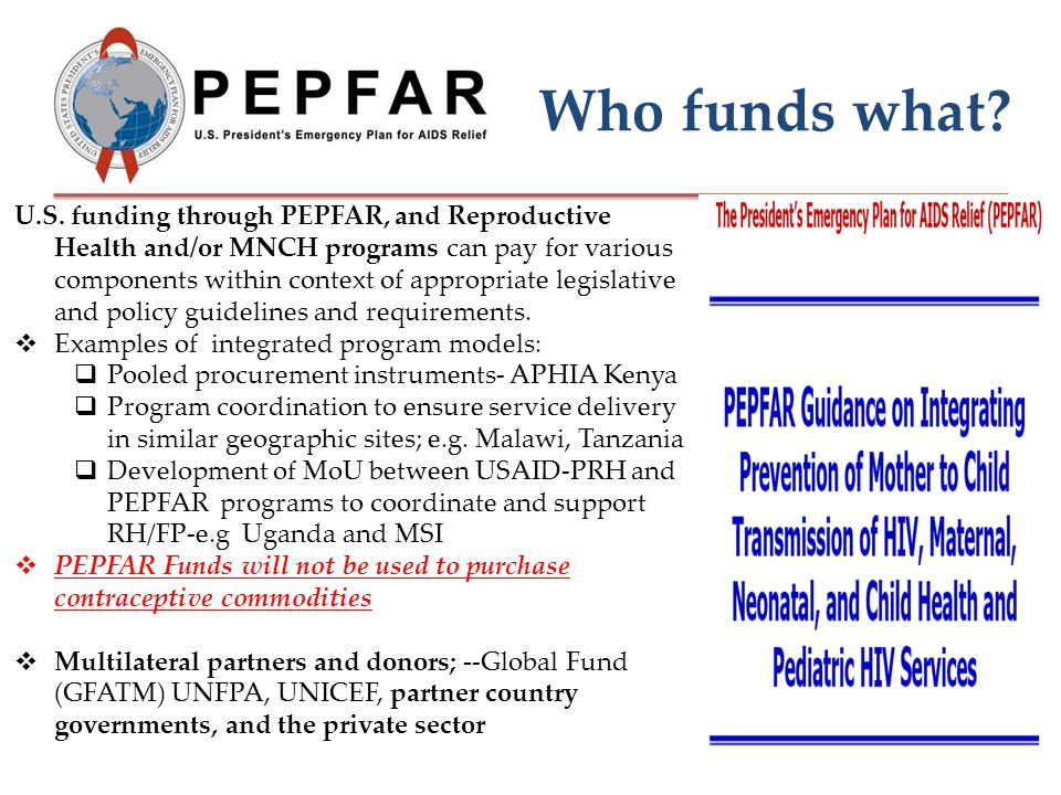 Who funds what. U.S.