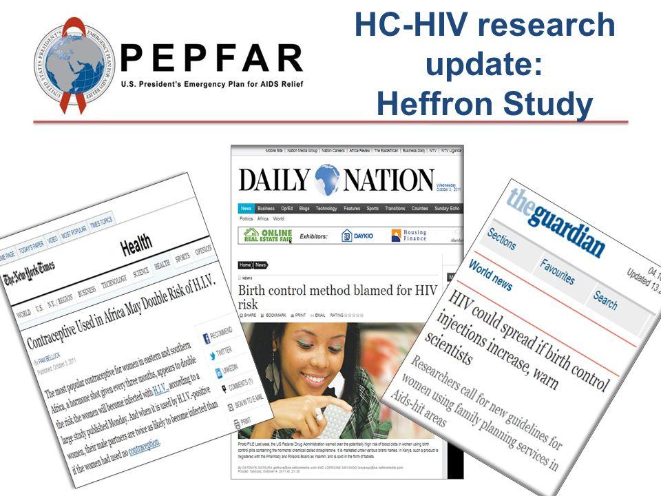 HC-HIV research update: Heffron Study