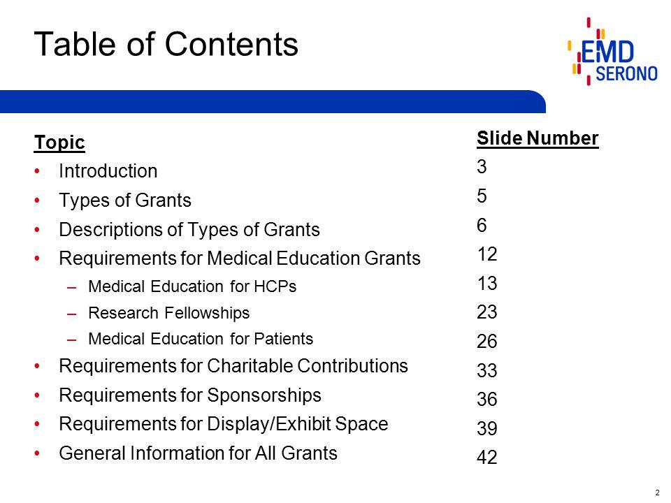 43 General Information for all Grants General Information 1.