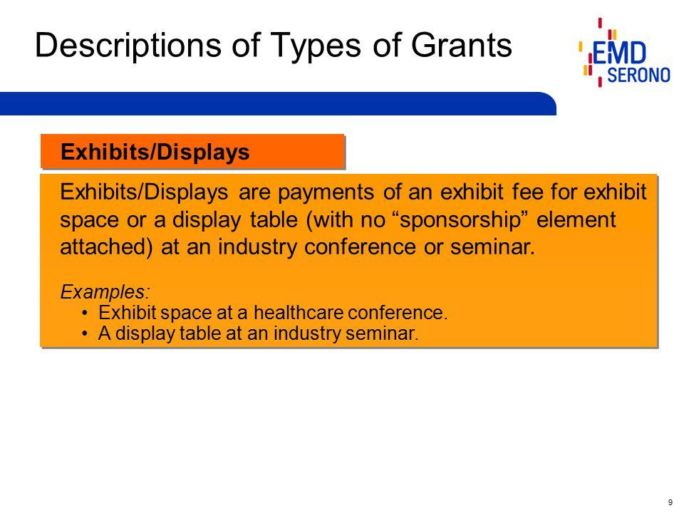 10 Independent Medical Grants (i.e.