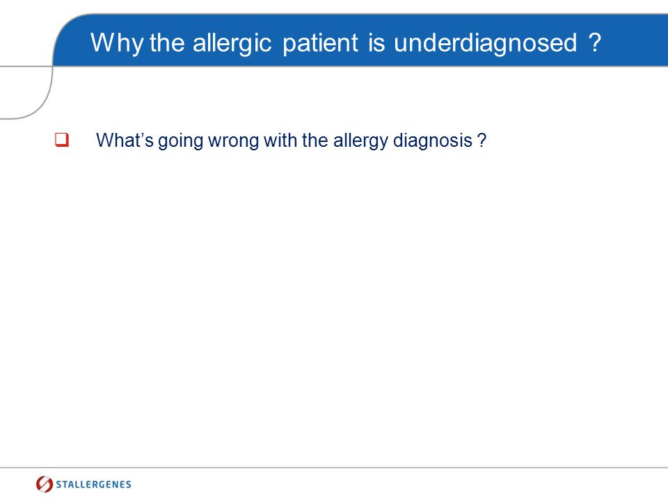 How the GPs diagnose the allergic diseases ? Patient with suspected respiratory allergy symptoms Clinical history for allergy Stop
