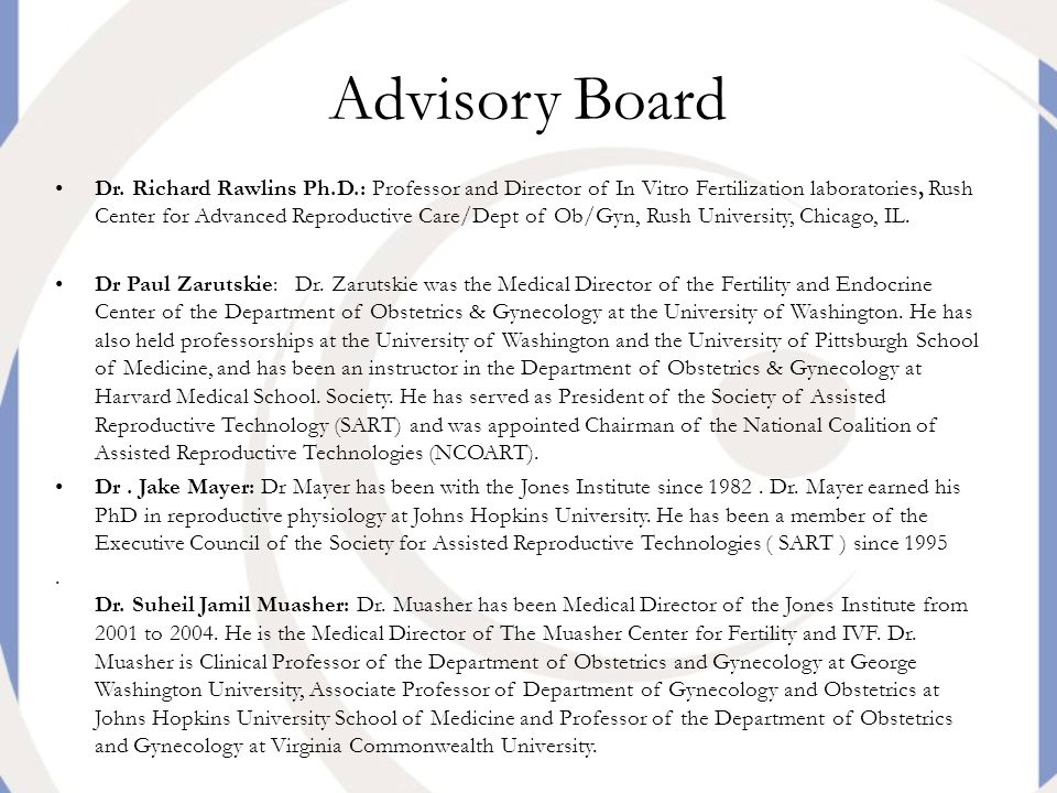 Advisory Board Dr.