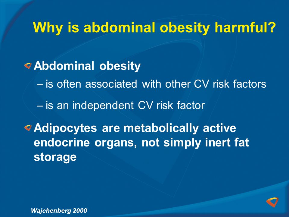 Why is abdominal obesity harmful.