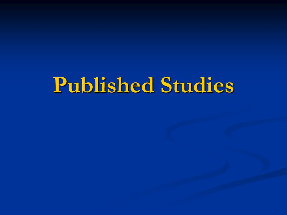 Published Studies