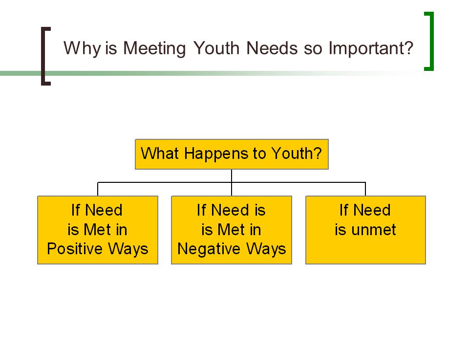 Why is Meeting Youth Needs so Important?