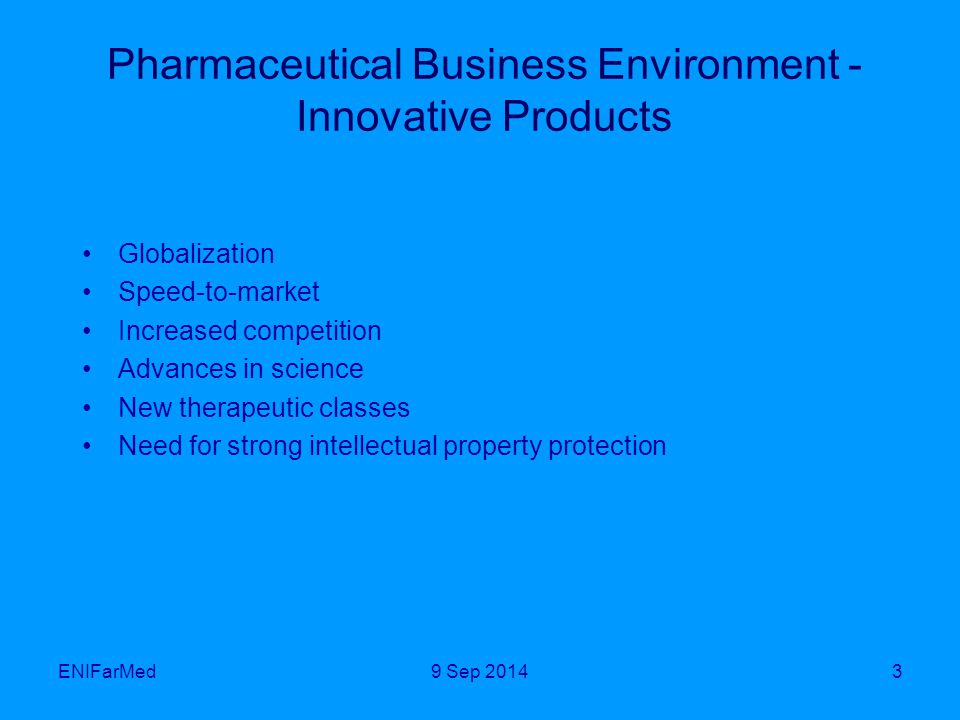Benefits of Local Innovative, R&D Driven Pharmaceutical Industry Advancement of local science and expertise: better connection of academia and industry Faster availability of new drugs to treat unmet medical needs in Brazil and elsewhere Decreased dependence on imported innovative drugs Growth of the domestic pharmaceutical sector Transition to export oriented industry Very positive results for the Brazilian economy ENIFarMed149 Sep 2014