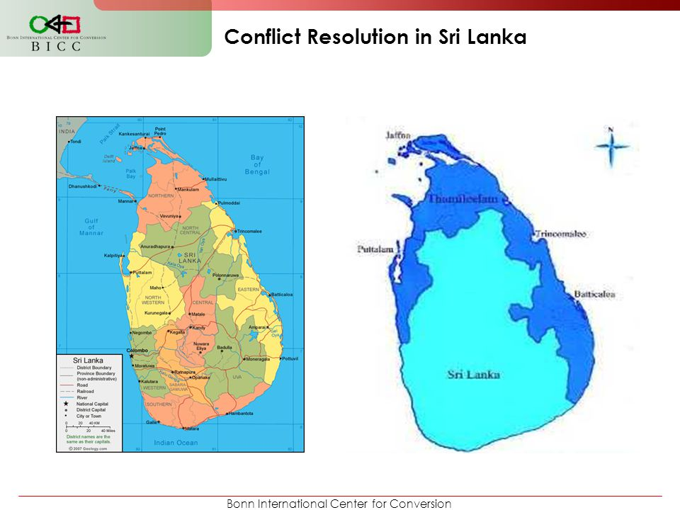 Bonn International Center for Conversion Conflict Resolution in Sri Lanka