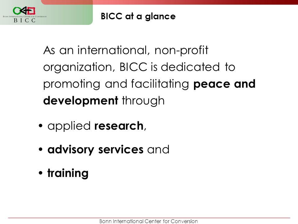 Bonn International Center for Conversion Conflict Resolution in Sri Lanka