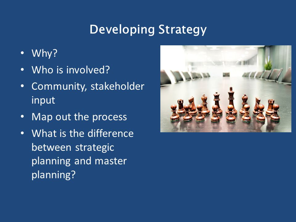 Developing Strategy Why. Who is involved.