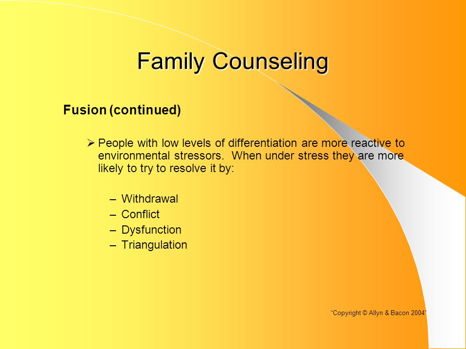 Family Counseling Professional Issues  Specialization or Profession: There is a debate as to whether this is a specialization within the profession or a profession in its own right.