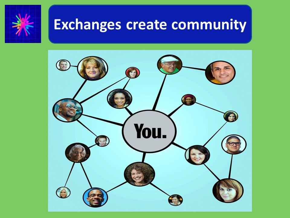 Exchanges create community