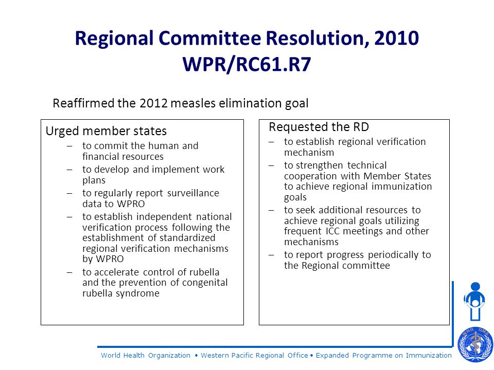 World Health Organization Western Pacific Regional Office Expanded Programme on Immunization Thank You
