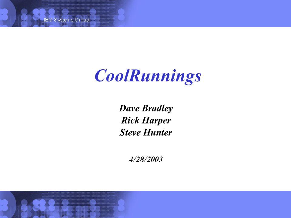Dave Bradley Rick Harper Steve Hunter 4/28/2003 CoolRunnings