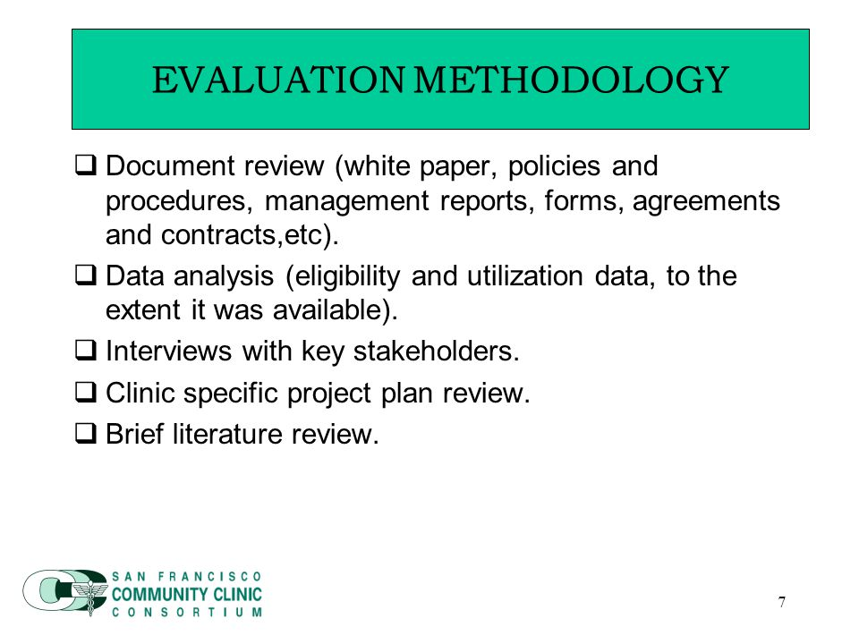 8 Guiding Principles for Evaluation  Advancing the State of the Art Community Benefit (ASACB) guiding principles that frame the program goals, and therefore the evaluation:  Emphasis on disproportionate unmet health needs  Emphasis on primary prevention  Building a seamless continuum of care  Building a community capacity  Emphasis on collaborative oversight GUIDING PRINCIPLES FOR EVALUATION