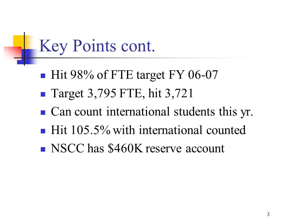 3 Key Points cont.
