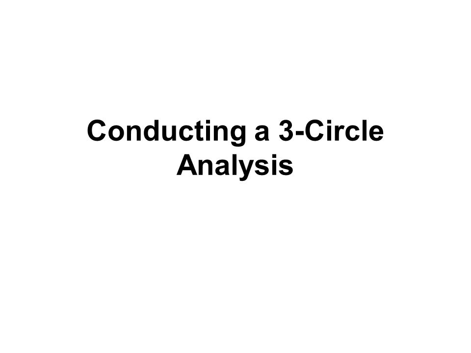 Conducting a 3-Circle Analysis