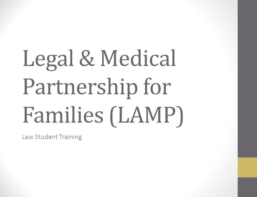 Legal & Medical Partnership for Families (LAMP) Law Student Training