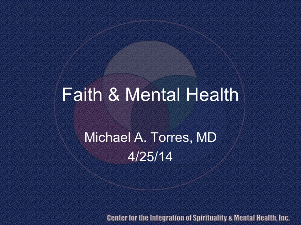 Outline Reflections BPSS Model Mental Health Ministry? Seven Strengths of Congregations AMWPS