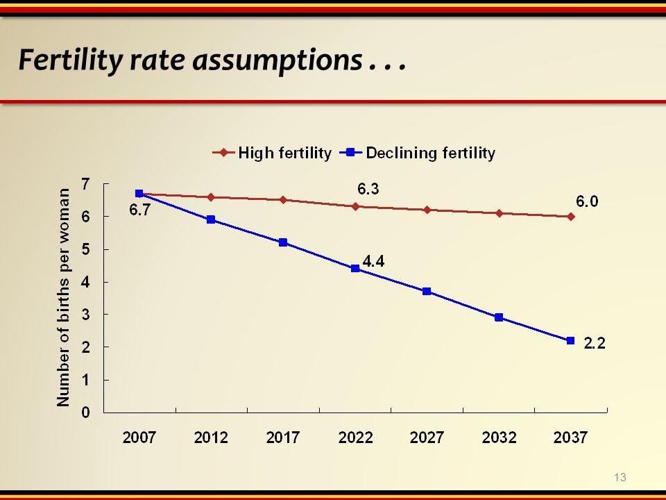 Fertility rate assumptions... 13