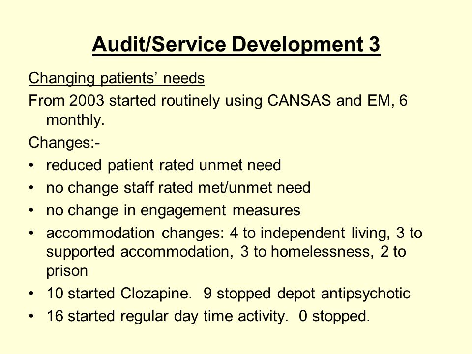 Future Raise profile of AO team locally & nationally Applying for AO demonstration team Refocus project- recovery focused working Maintain clear AO focus, by team caseload management & training/team support Closer working across teams re group & other work RIO electronic patient record