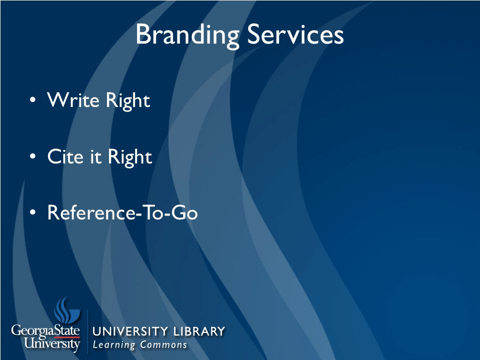 Branding Services Write Right Cite it Right Reference-To-Go