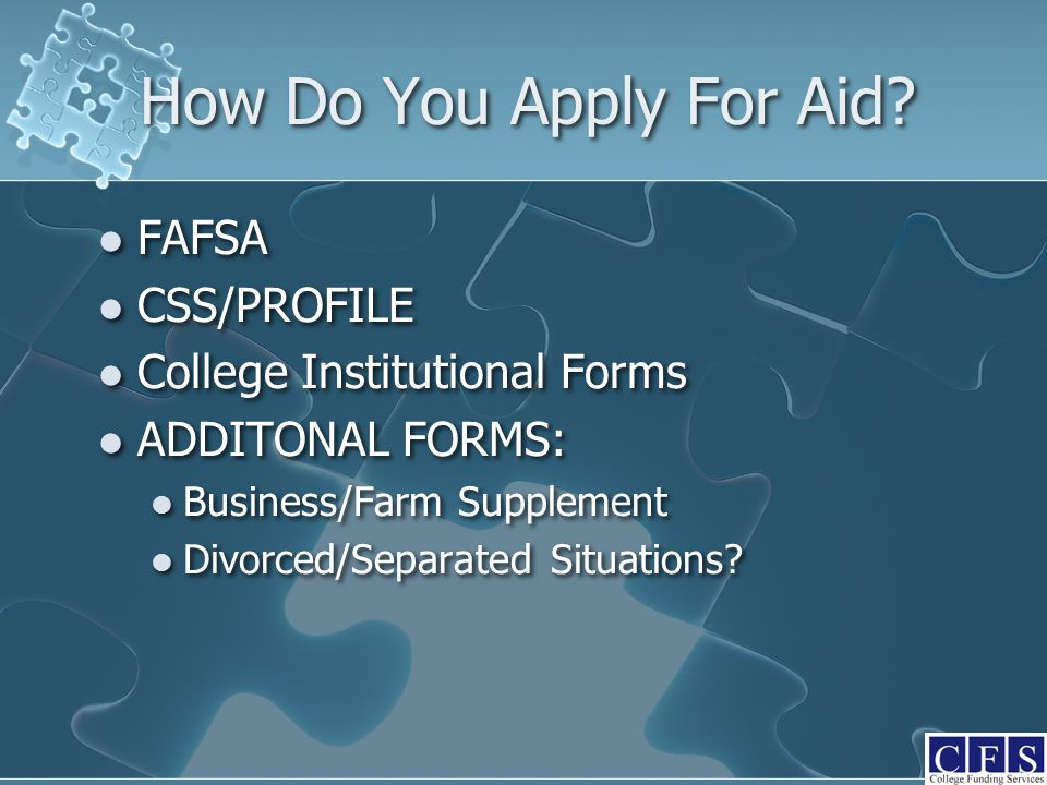 How Do You Apply For Aid.