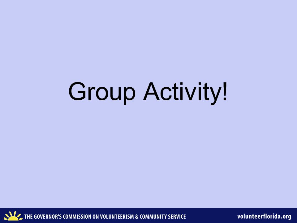 Group Activity!