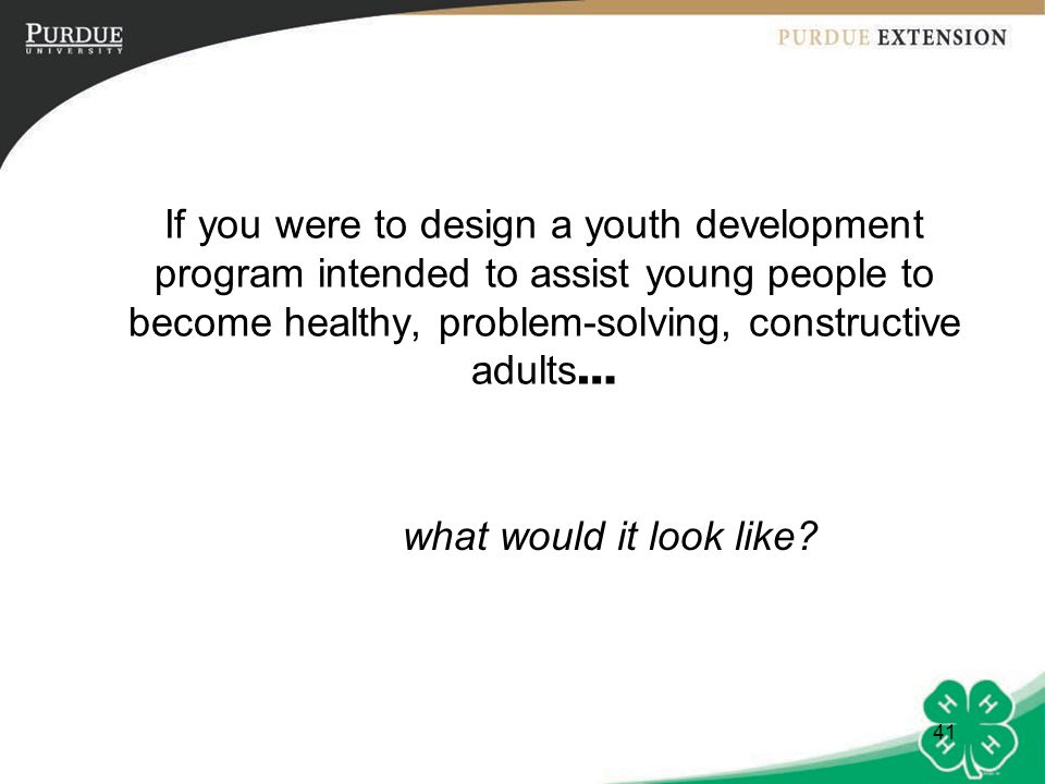 42 What would it look like.It would offer opportunities for youth to experience belonging.