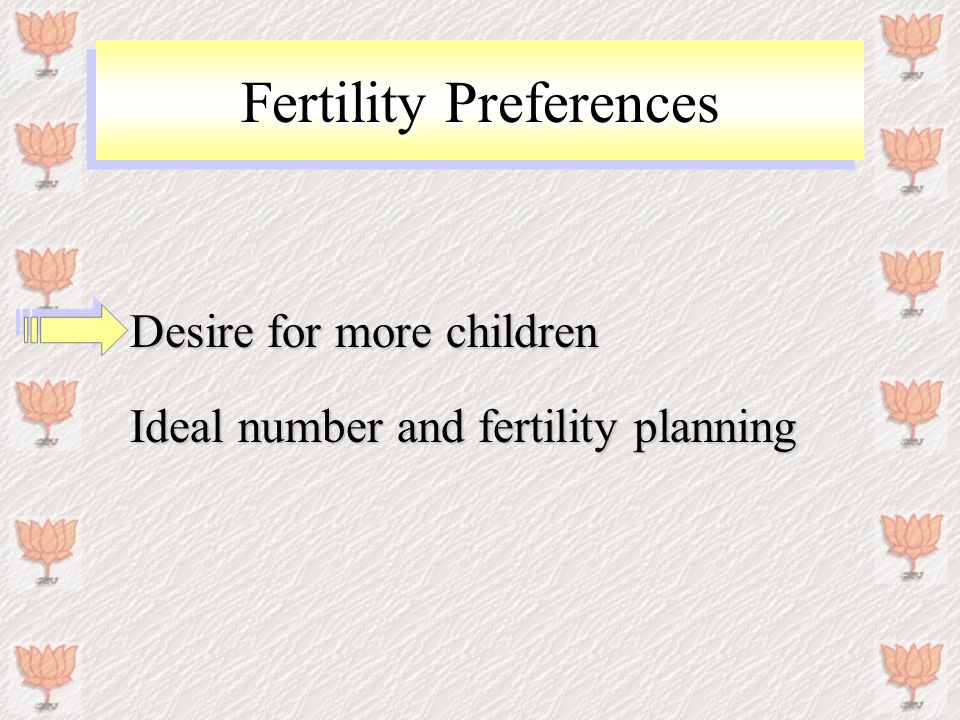 Fertility preferences of women