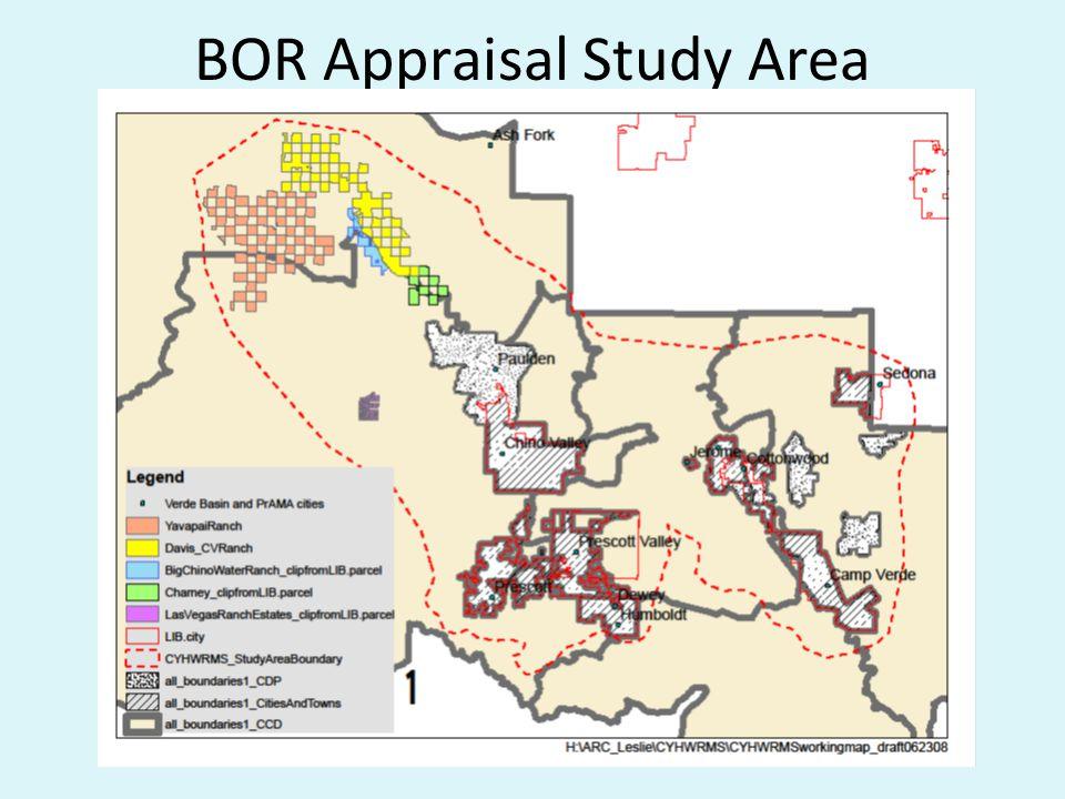 BOR Appraisal Study Area