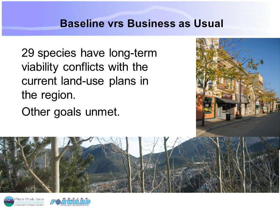 29 species have long-term viability conflicts with the current land-use plans in the region.