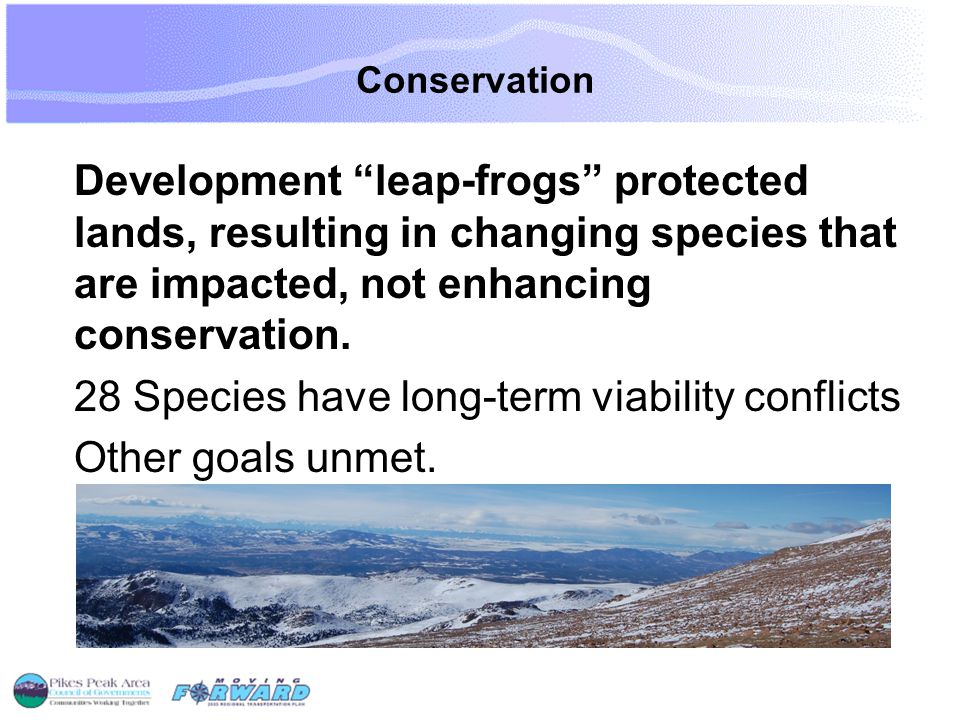 Conservation Development leap-frogs protected lands, resulting in changing species that are impacted, not enhancing conservation.