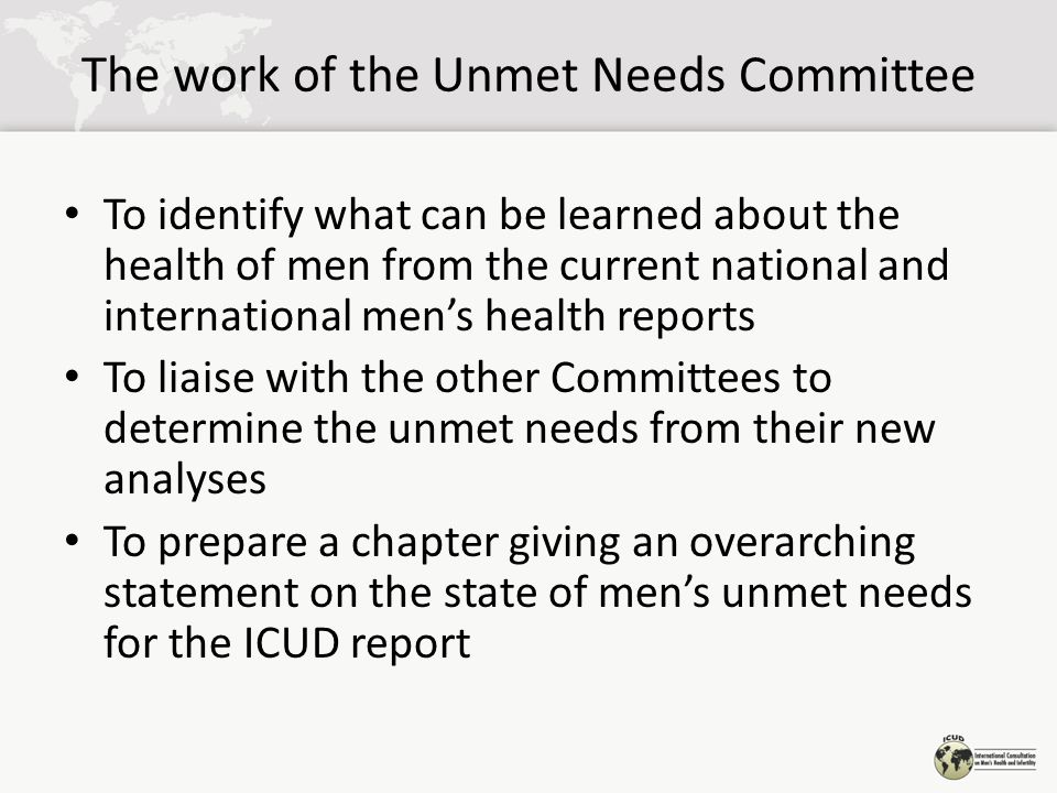 Health Services and Health Service Utilization - Unmet needs Greater attention should be paid to the training of health and social care professionals to communicate more effectively with men.