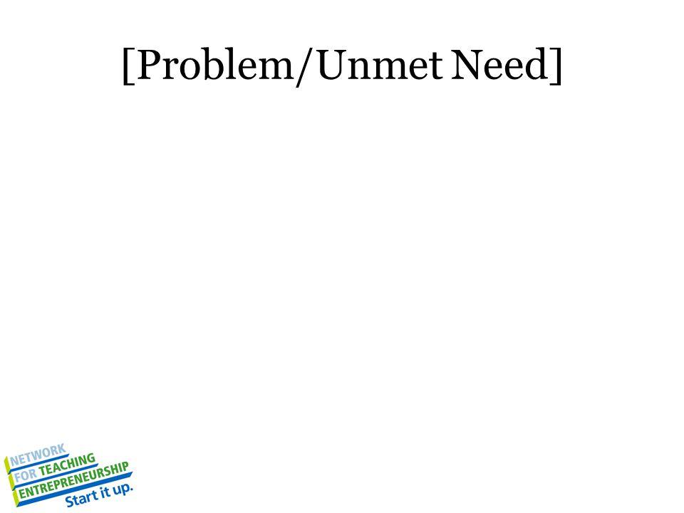 [Problem/Unmet Need]
