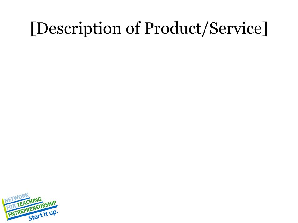 [Description of Product/Service]